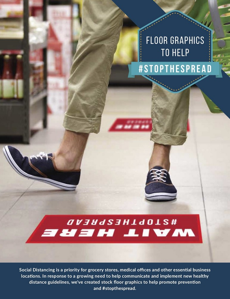 #StopTheSpread Floor Signs